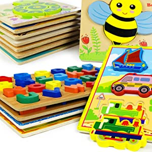 wooden puzzles for kids ages 3-5