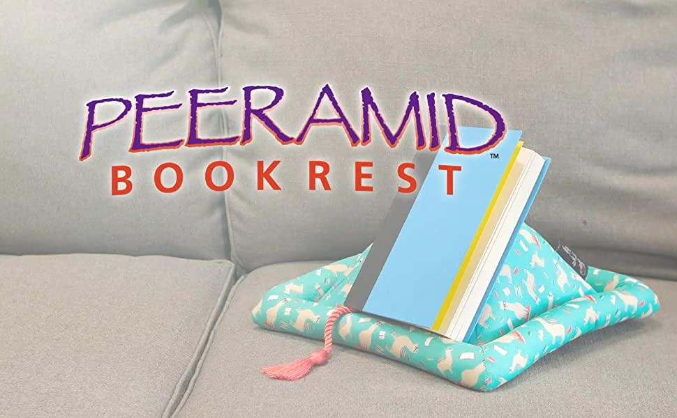 Peeramid book holder stand rest bookrest tablet iPad kindle gift kid adult bed desk pillow pad read