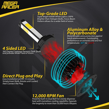 12,000 RPM Turbofan 50,000 Hours IP68 Waterproof Top-Grade LED Aluminum Alloy