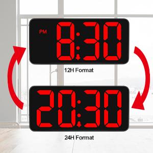 big number alarm clock