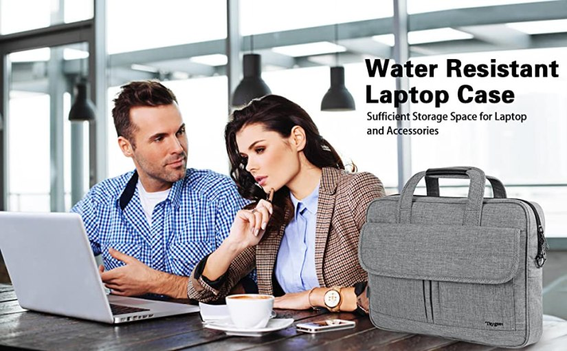 Water resistant business laptop case, sufficient storage space for laptop and accessories