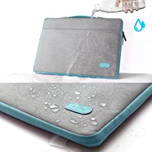 4  HSEOK Slim Laptop Sleeve 15 15.6 16 inches Case Water resistant Briefcase Gray