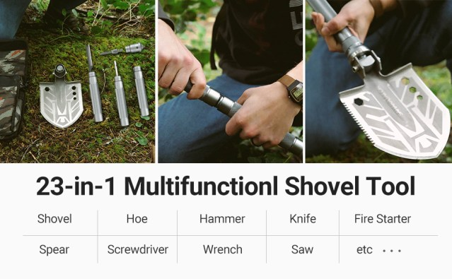 survival shovel gear and equipment