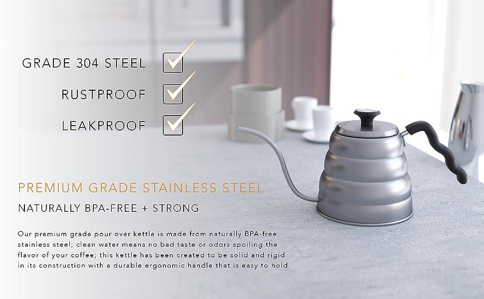 grade 304 stainless steel rustproof leakproof