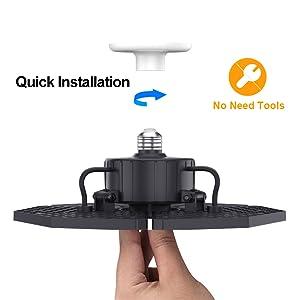 LED Ceiling light fixture for garage/shop/basement
