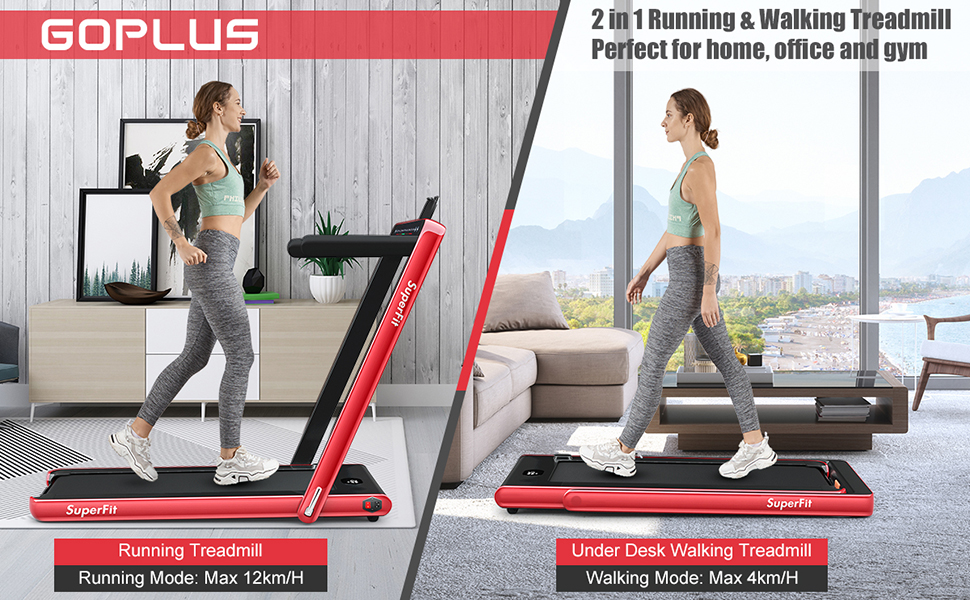 2 in 1 Folding Treadmill