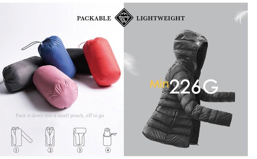 packable lightweight women jacket warm winter