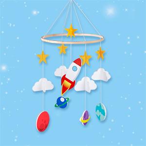 red mobile crib baby felt mobile crib infant room hanger decorations nursery ceiling hanger decor