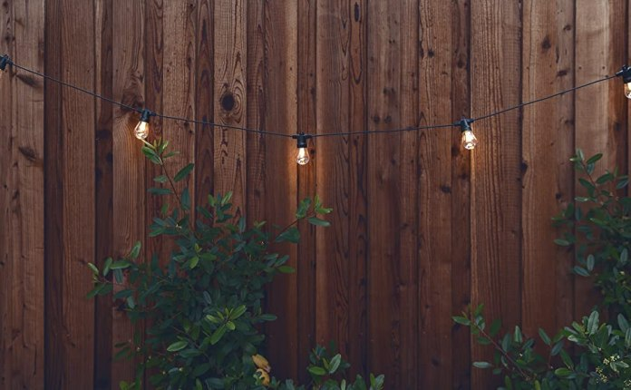 Brightech Ambience Pro - Weatherproof, Solar Power Outdoor String Lights