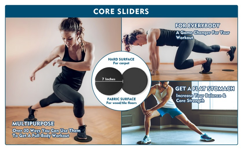 Core sliders gliders for working out strength fitness slides core exercise equipment gliding discs