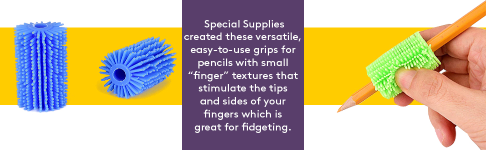 Fuzzy Pencil Grips - 50 Pack