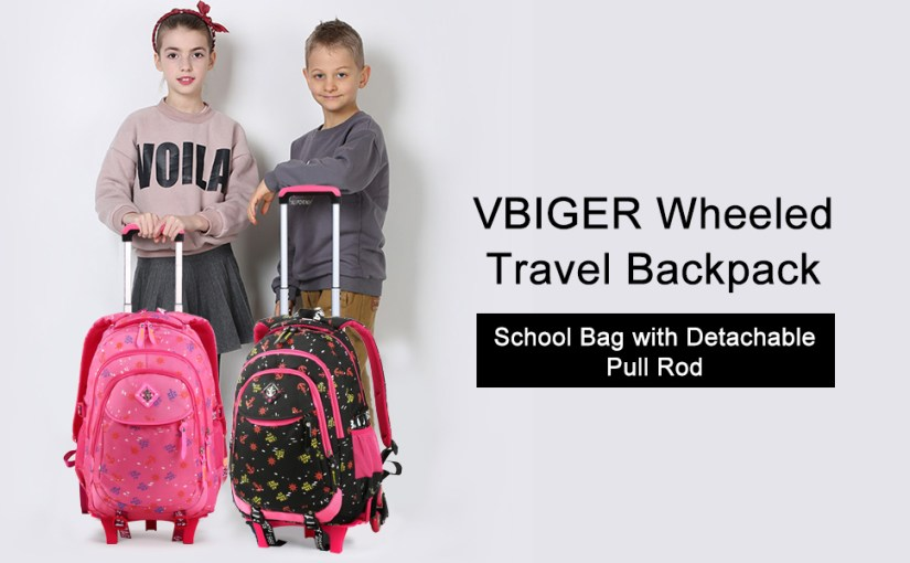 Rolling Backpack for Girls