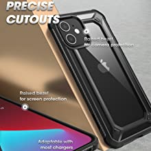 SUPCASE Unicorn Beetle Exo Pro Clear Case Screen Protector for iPhone 12 & 12 Pro 6.1 2020