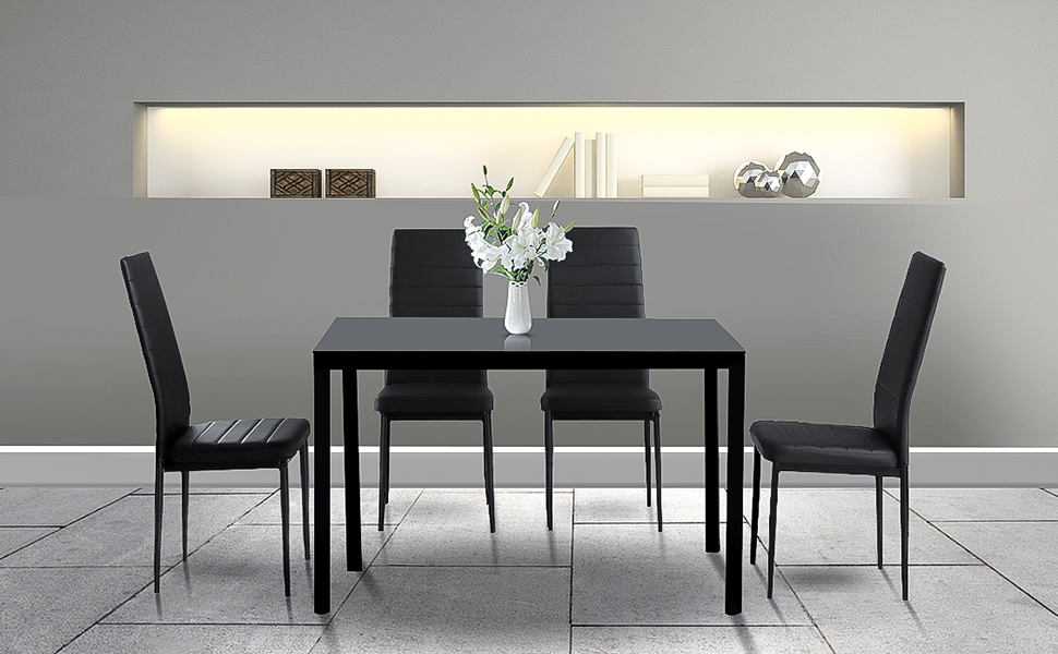Dining tables set for 4