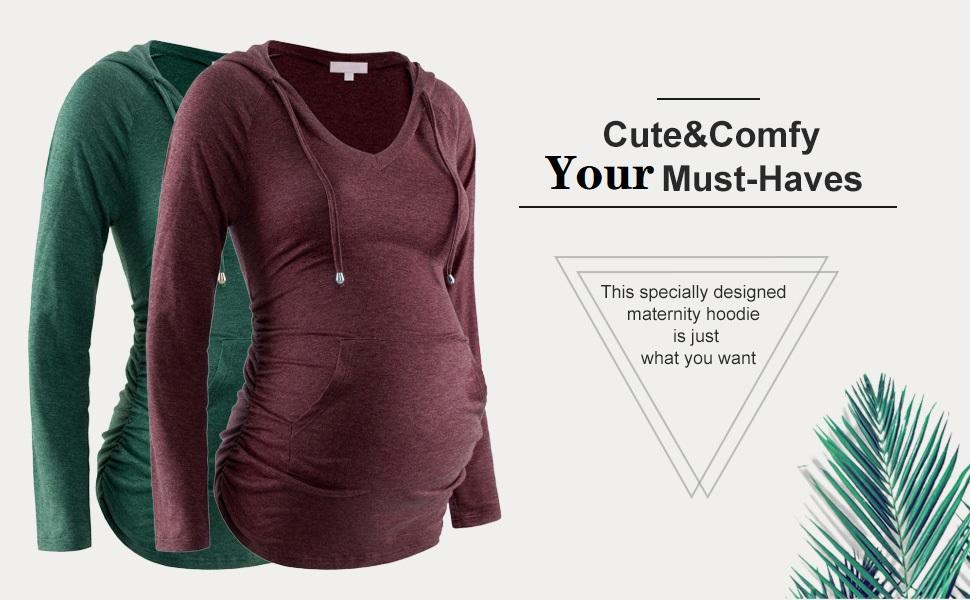 Maternity hoodie long sleeve