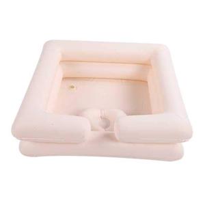 Inflatable shampoo basin