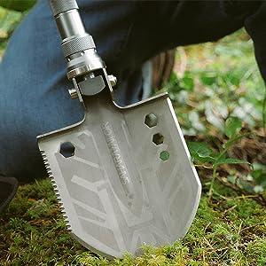folding shovel survival multi tool