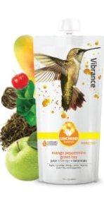 vibrance alphonso mango green tea with acerola high vitamin C juice beverage