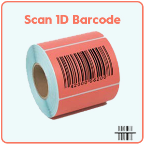 barcode scanner wireles cordless bar code reader USB warehouse inventory library USB label