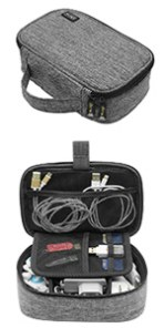 electronics cable organizer travel case small