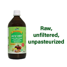 Raw, unfiltered, unpasteurized with no added sugars or flavors