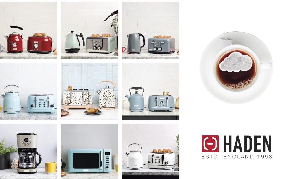 dorset putty, dorset 75002, retro microwave, beige microwave, beige coffee maker, haden appliances