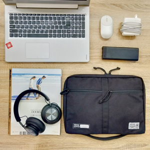 """Large capacity laptop sleeve bag for pens cards power bank calculator cables 13.3"""" laptop documents"""