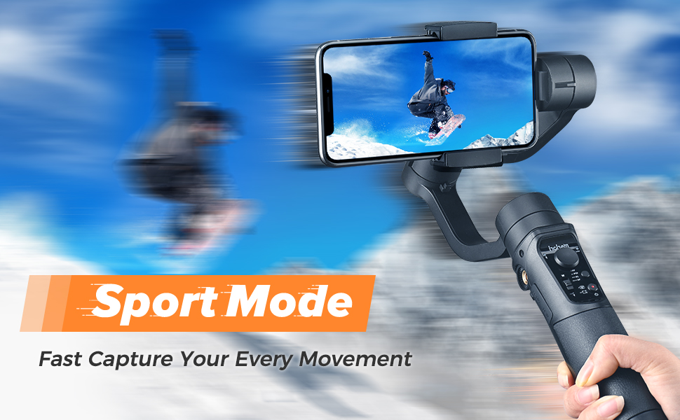 hohem isteady mobile phone gimbal smartphone stabilizer for recording video 3-axis dji smooth