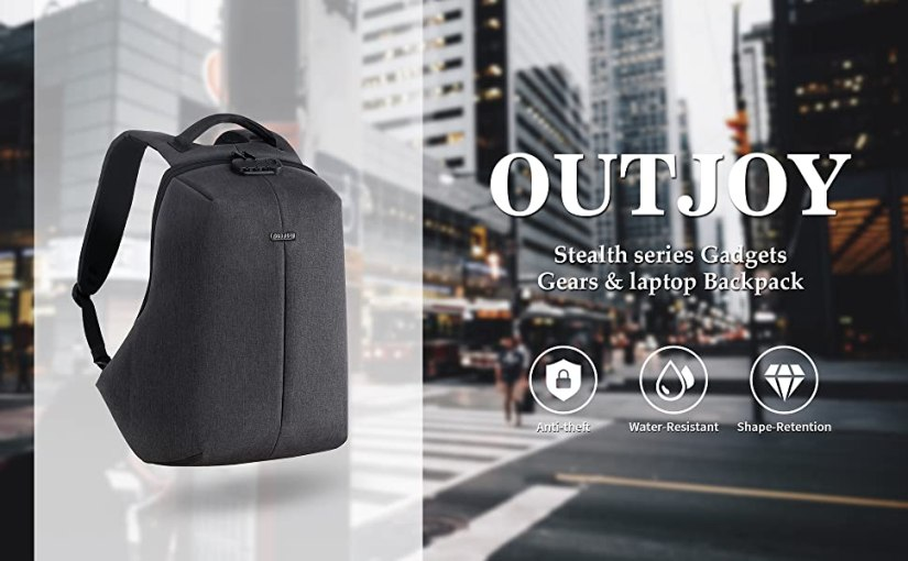 anti theft lockable backpack with USB charging