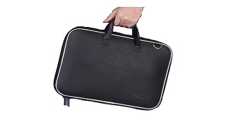 Wearslim Stylish Unisex Hard Shell Briefcase Black Laptop Bag with Strap