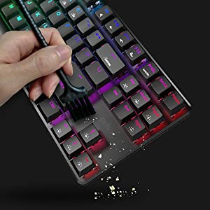 Pulsar | Lunar Alloy Tenkeyless Mechanical Gaming Keyboard | Aircraft grade aluminum | Red Switch