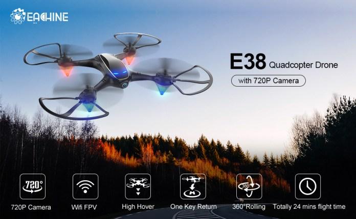 E38 wifi fpv drone with 720P camera
