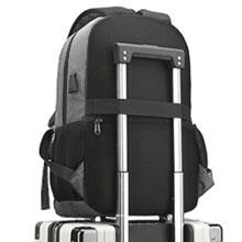 Luggage Strap & Anti-Theft Zipper Back Pocket