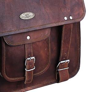 mens leather laptop messenger vintage bag
