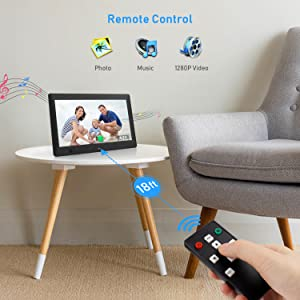 Digital Photo and Video Frame with Remote Control