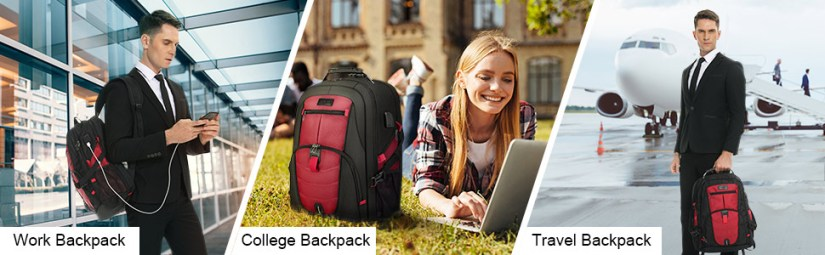 Business backpack for men 17 inch computer backpack computer backpack for laptops school backpacks