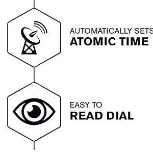Atomic clock battery operated sharp