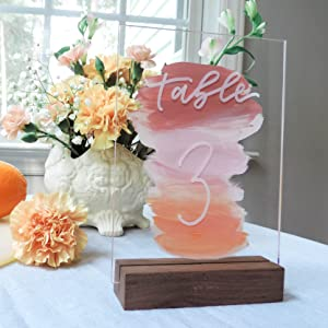 wedding table decoration clear acrylic sign place card escort number welcome cards gifts bar menu