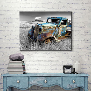 old truck canvas art