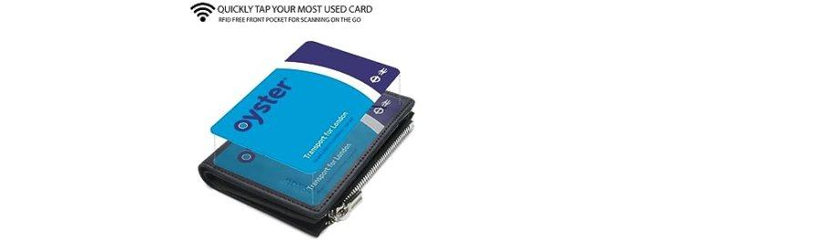 Men's wallet with coin pocket slim wallet wallet mens minimalist wallet wallet with zip coin pocket