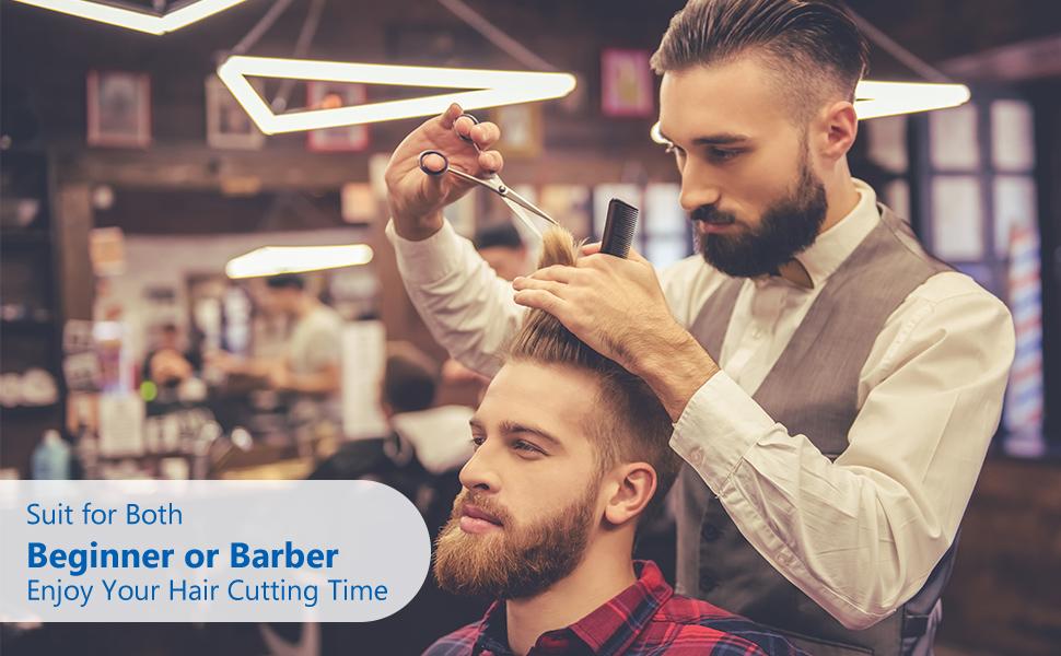 Hair cutting scissors combo