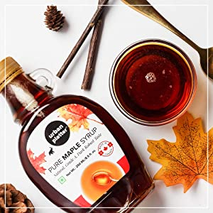 Urban Platter Pure Maple Syrup, 250ml / 8.5fl.oz [Product of Canada, Grade A, Robust Taste]