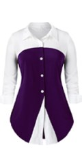 Women's Plus Size Button Down Blouse