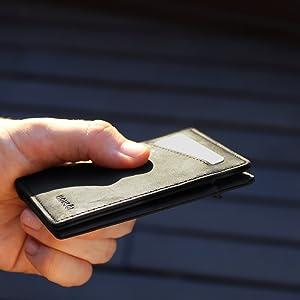 Slim wallet men's wallet leather wallet minimalist wallet wallet with coin pocket