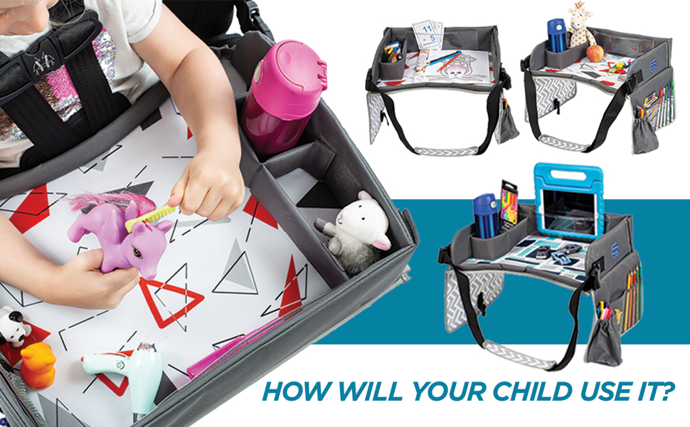 kids toddler child travel tray activity desk toys road trip play table