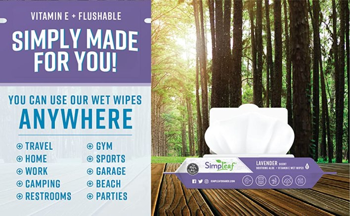 Simply Made for You Lavender Travel Home Work Camping Restrooms Gym Sports Garage Beach Parties