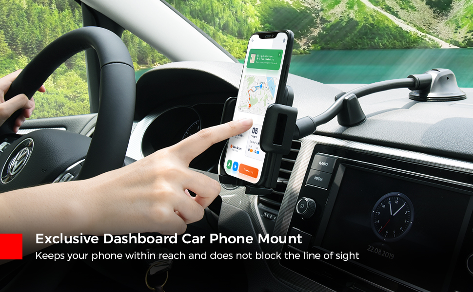 iphone xs max car mount suction phone holder mpow iphone dashboard mount suction car phone holder