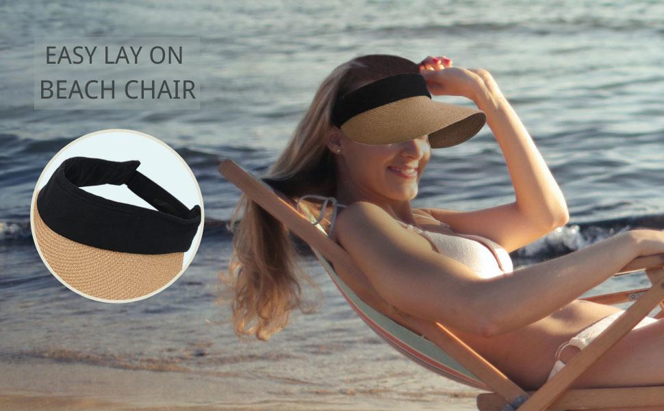 detachable beach cap,easy lay on beach chair