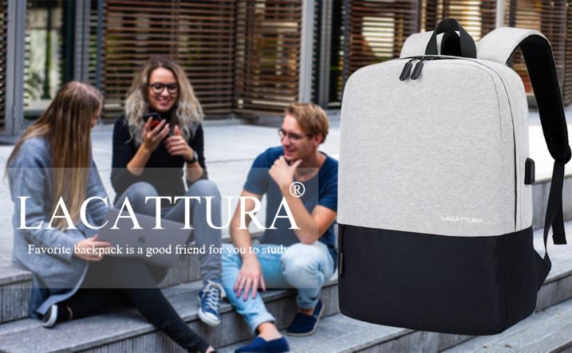lacattura college backpack school bookbag usb charing