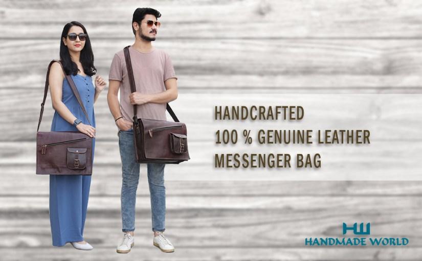 Leather messenger bag for men women Leather satchel Crossbody Shoulder bag